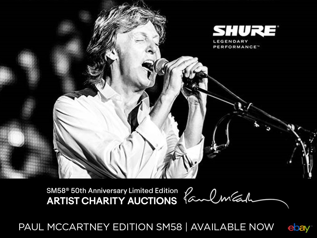 SHURE Paul McCartney SM58 Limited Edition Microphone