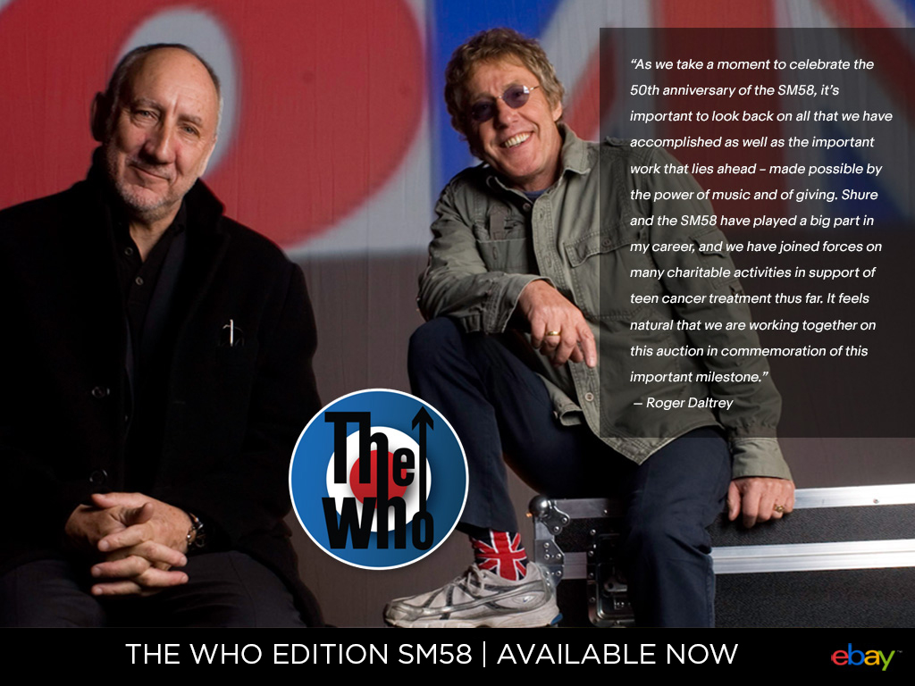 SHURE The Who SM58 Limited Edition Microphone