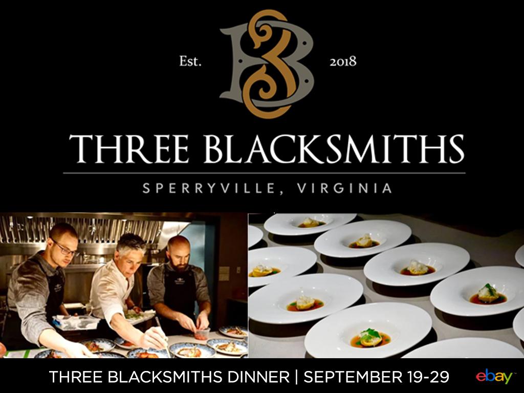 Three Blacksmiths Exclusive Dinner